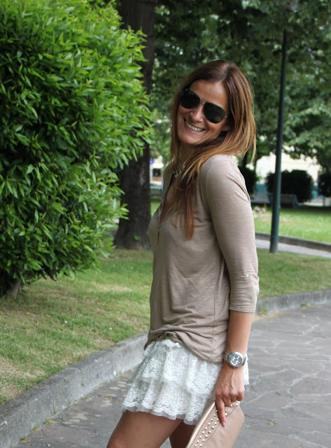 minifalda Zara encaje