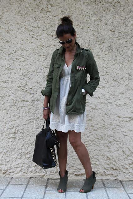 Camisa Verde Militar de Zara