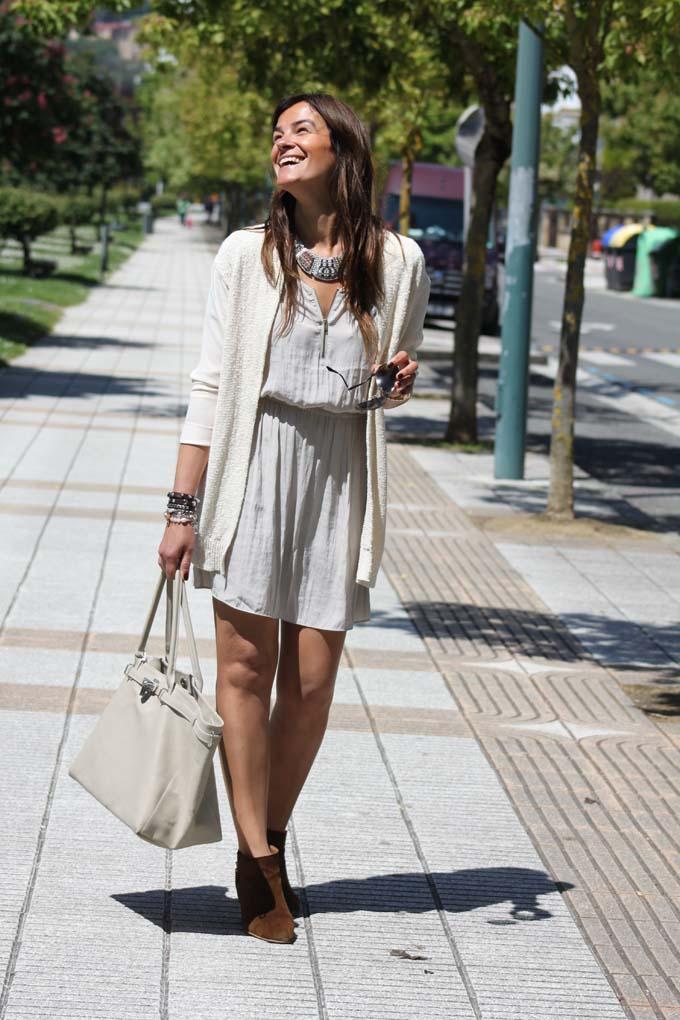 Vestido gris Koket Azpeitia , Lucía Díez