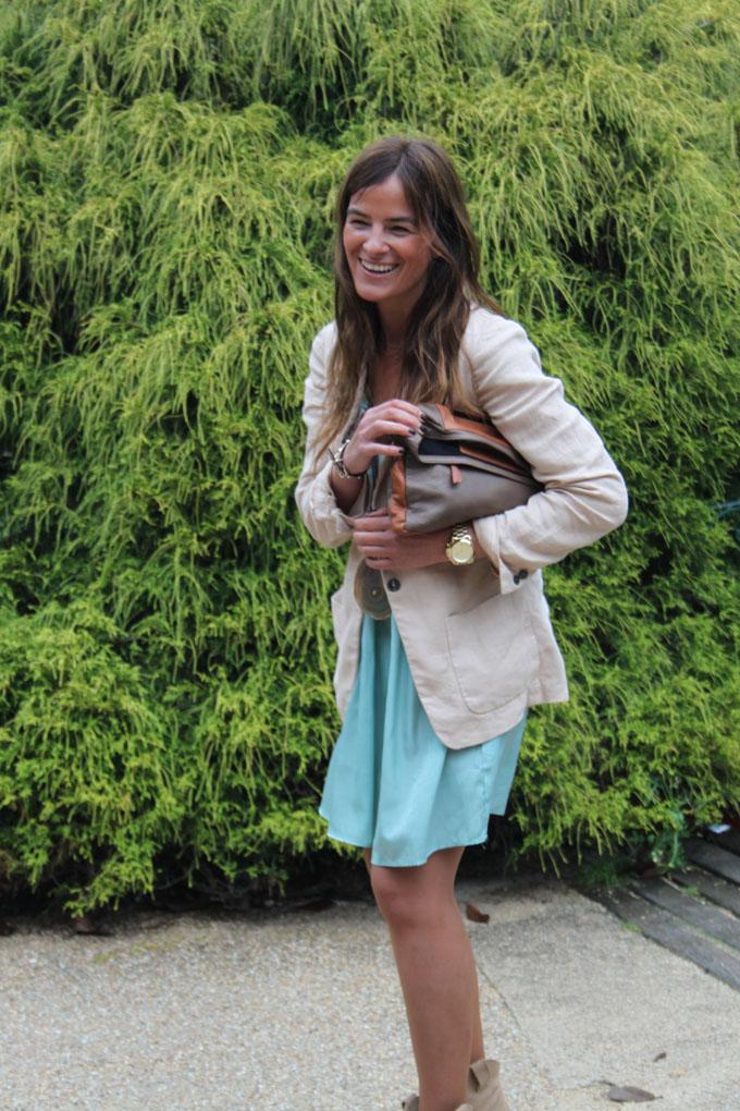 vestido turquesa ,Lucía Díez,Botines Zara