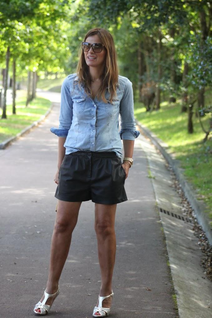 Shorts y camisa vaquera , escuestiondestilo ,Lucia Díez