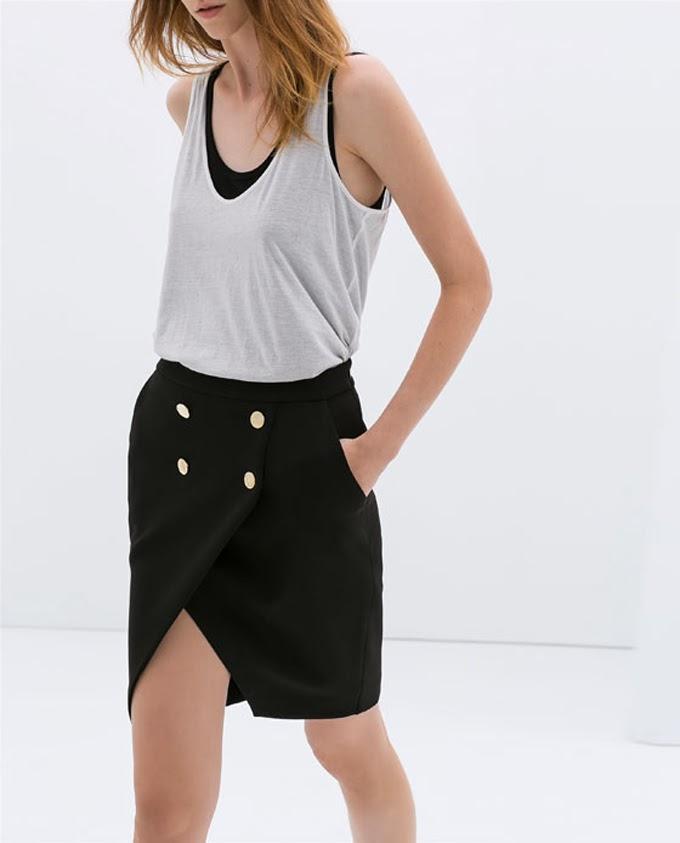 Falda de Zara botones ,Lucía Díez