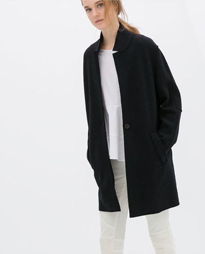 Abrigo Negro Zara , Lucía Díez