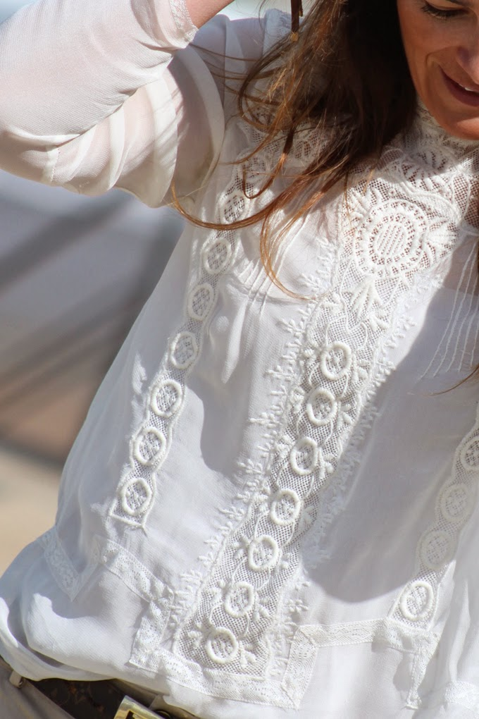 camisa joya Zara , camisa encaje Zara , Bolso Lotusse , escuestiondestilo , Lucía Díez
