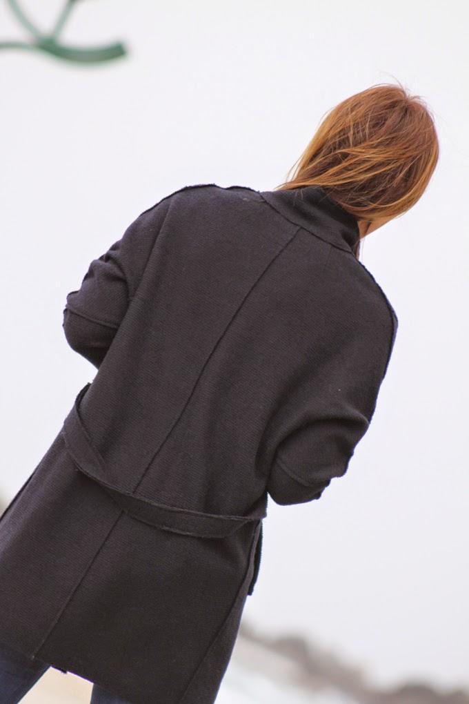 abrigo marino Zara , escuestiondestilo , Lucia Diez