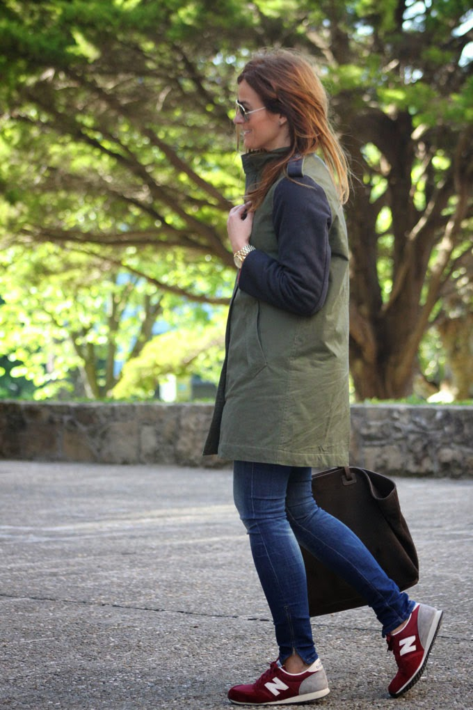 Choies , chaqueta verde militar ,New balance , Lucía Díez , escuestiondestilo , Michael Kor