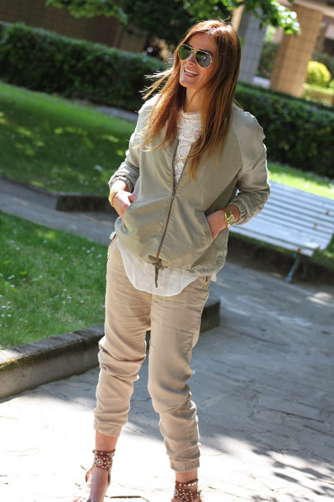 Ray Ban , Isabel Marant , Sandalias , Vero Moda , bomber zara ,camisa encaje Zara , es Cuestion de estilo , Lucia Díez