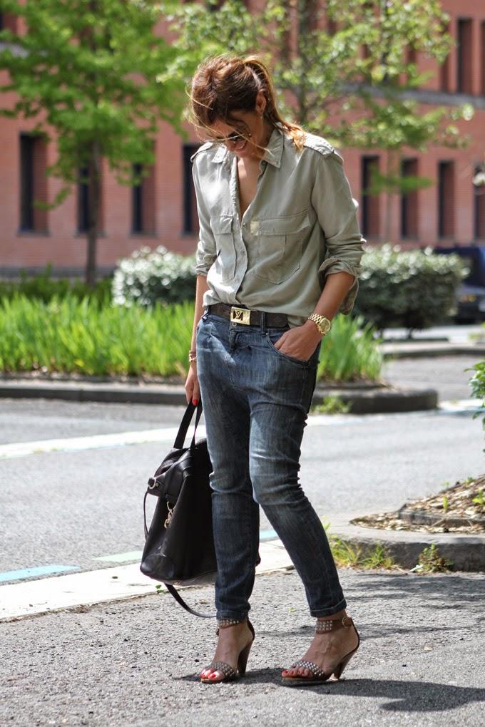 Ray Ban , Camisa verde Zara , Bolso Etro , Lucía Díez , Es cuestion de estilo