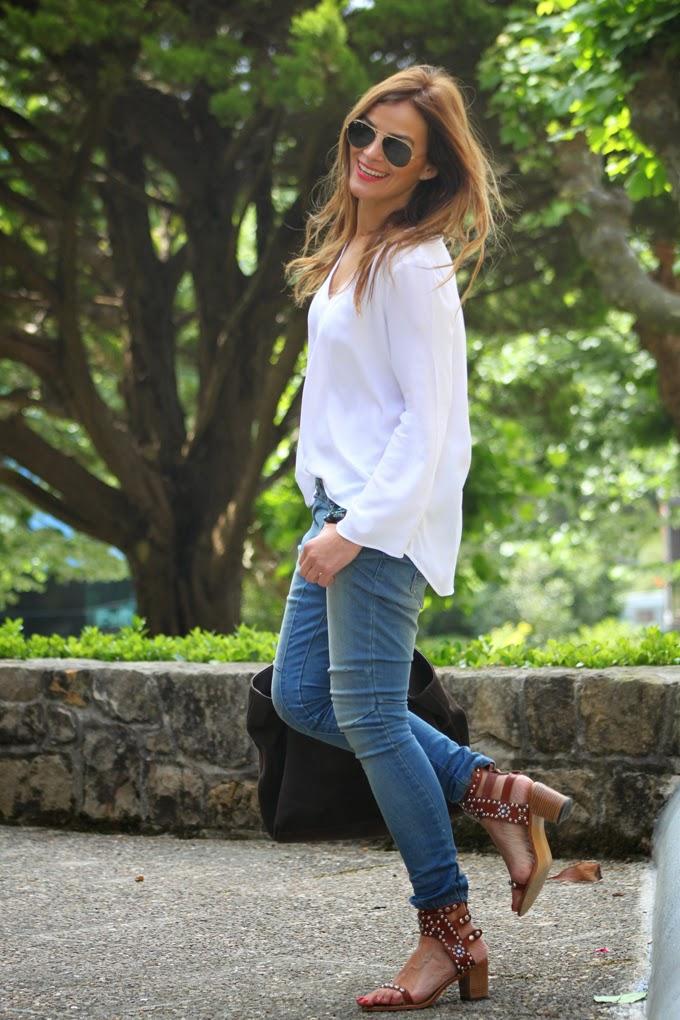 Baggy Pants , Isabel Marant Sandalias , Camisa Zara ,Ray Ban , Lucía Díez , Es Cuestion De Estilo