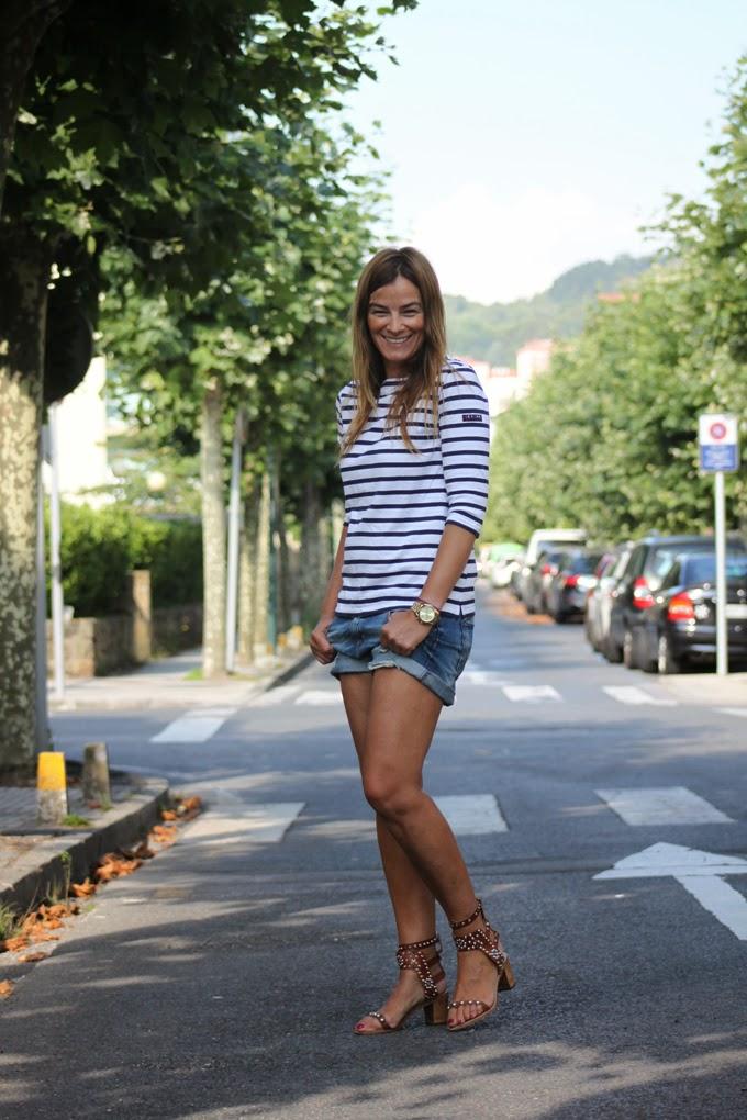 Batela , camiseta , rayas , verano , norte , es cuestion de estilo , Lucia Díez