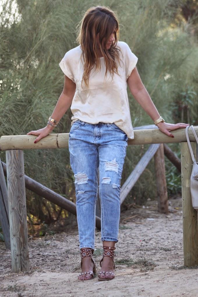 ripped Jeans ,frayed jeans , vaquero roto ,Lucía Díez , Es cuestion de estilo , Isabel Marant , Teresa Aldama,Choies
