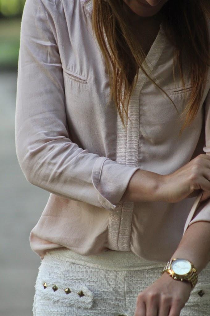 camisa seda rosa , Lucía Díez , Es Cuestion de estilo , Michael Kors