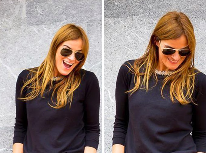 Jersey negro Zara , estilo , Pantalon roto , Lucia Díez , streetstyle