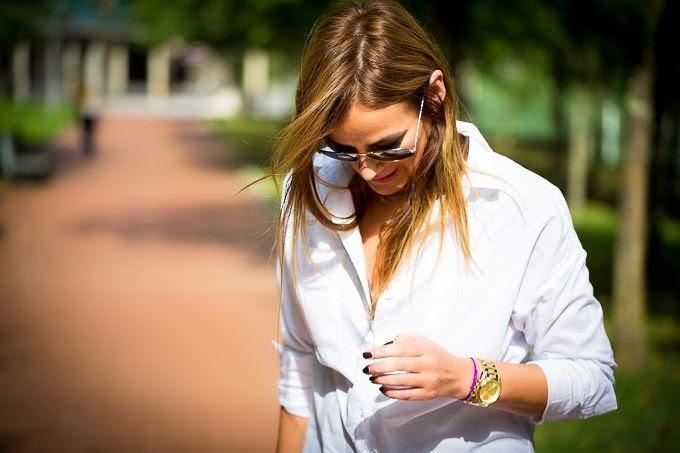 Falda tul , Botines Ash , Camisa blanca , estilo ,Lucia Díez . Street Style