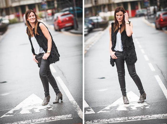 Tendencia , chaleco pelo , Lucía Díez , Es cuestion de estilo , Blog , street style, pitillo