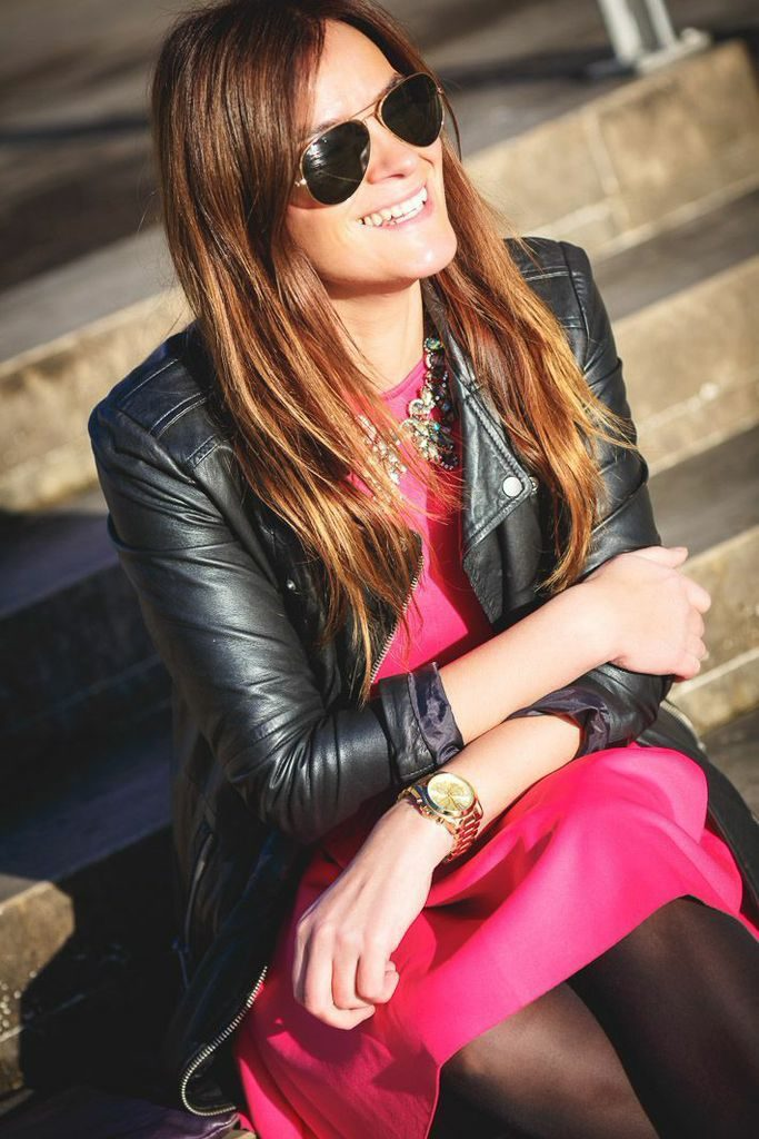 Vestido Fucsia , Michael kors , es cuestion de estilo , Lucía Díez , Blog