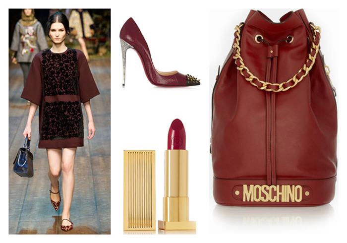 Marsala 2015 , color del año , Lucía Díez , es cuestion de estilo , blog .marsala color .Tendencia , trendy  ,