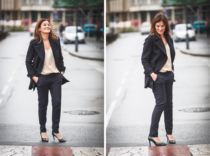 Navy, abrigo marinero, Lucia Díez, Blog, street style, escuestiondestilo