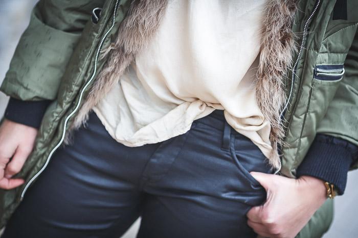 chaleco de plumas ,Lucía Díez , es cuestion de estilo , street style, blog , encerado , Berriz