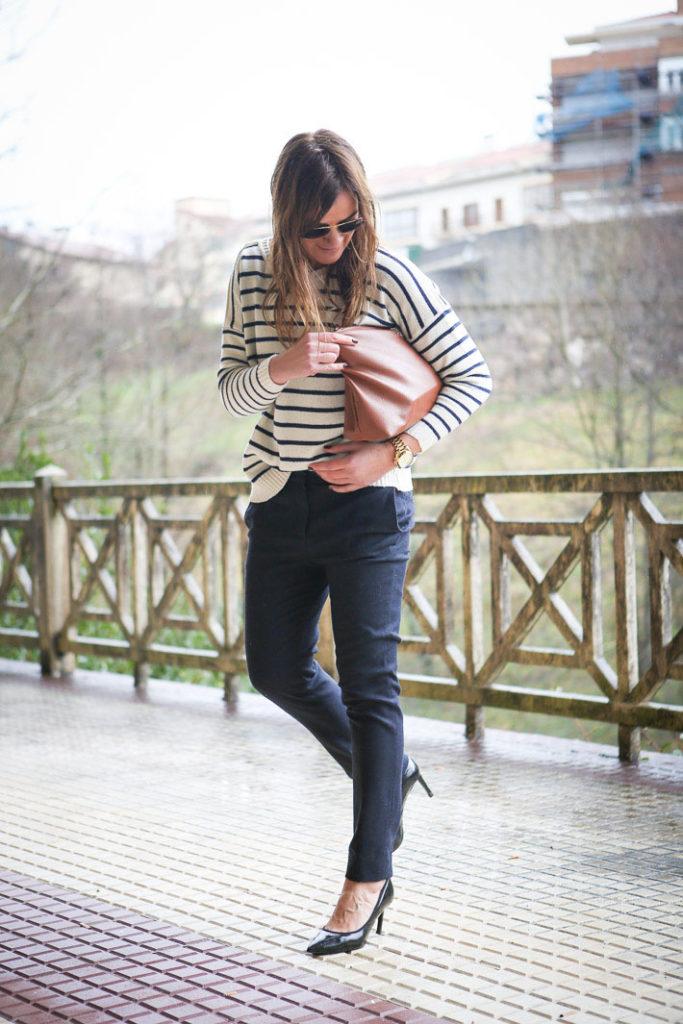 Stilettos , looks , Streetstyle, Lucía Díez , escuestiondestilo , pitillo , navy , Ainhoa Etxeberria, Isabel Marant , camisa verde militar