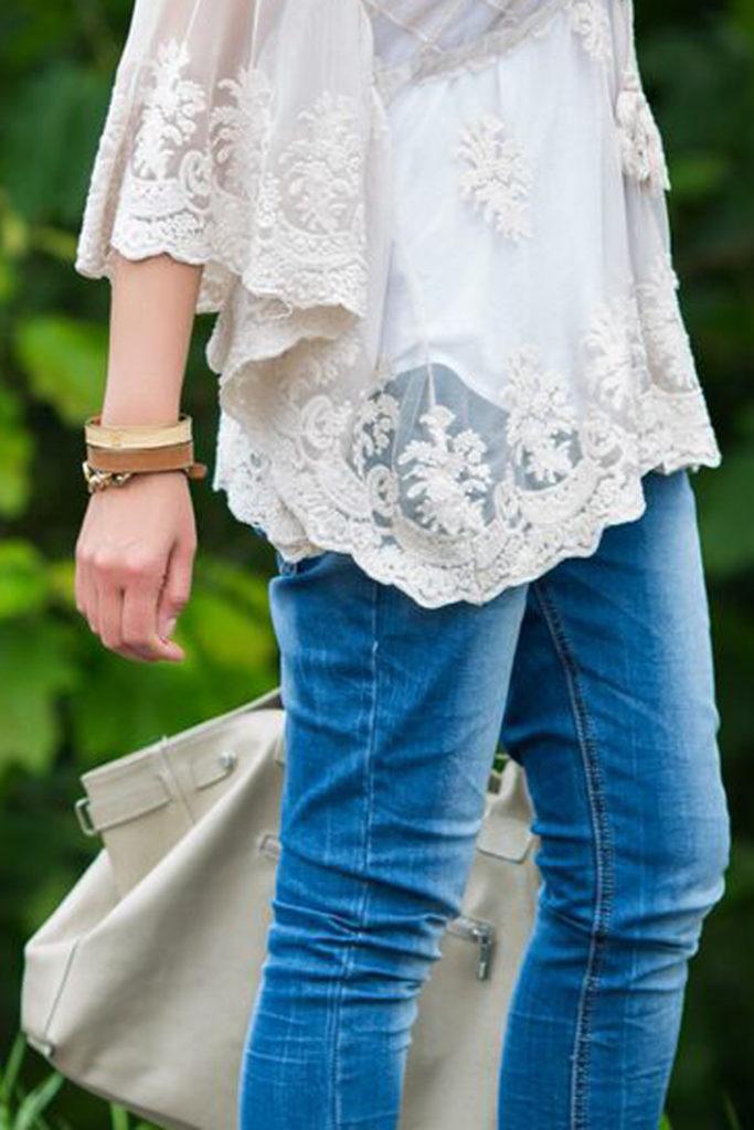 camisa , encaje , blusa , vaquero ,look básico ,massimo Dutti , Es cuestion de estilo,