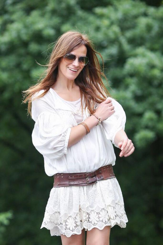 sandalias , gladiator , altas , tiras , mango , es cuestion de estilo , Streetstyle, , vestido blanco ,lucia díez , blog