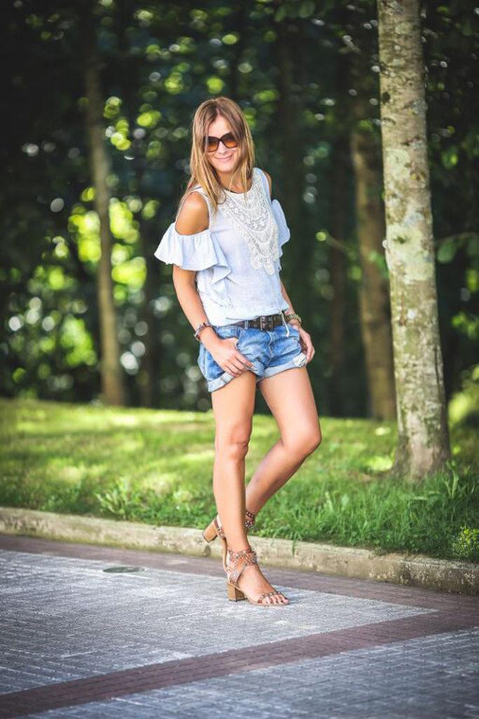 Short Vaquero . Es cuestion de estilo , Lucía Díez , isabel Marant ,sandalias , look verano