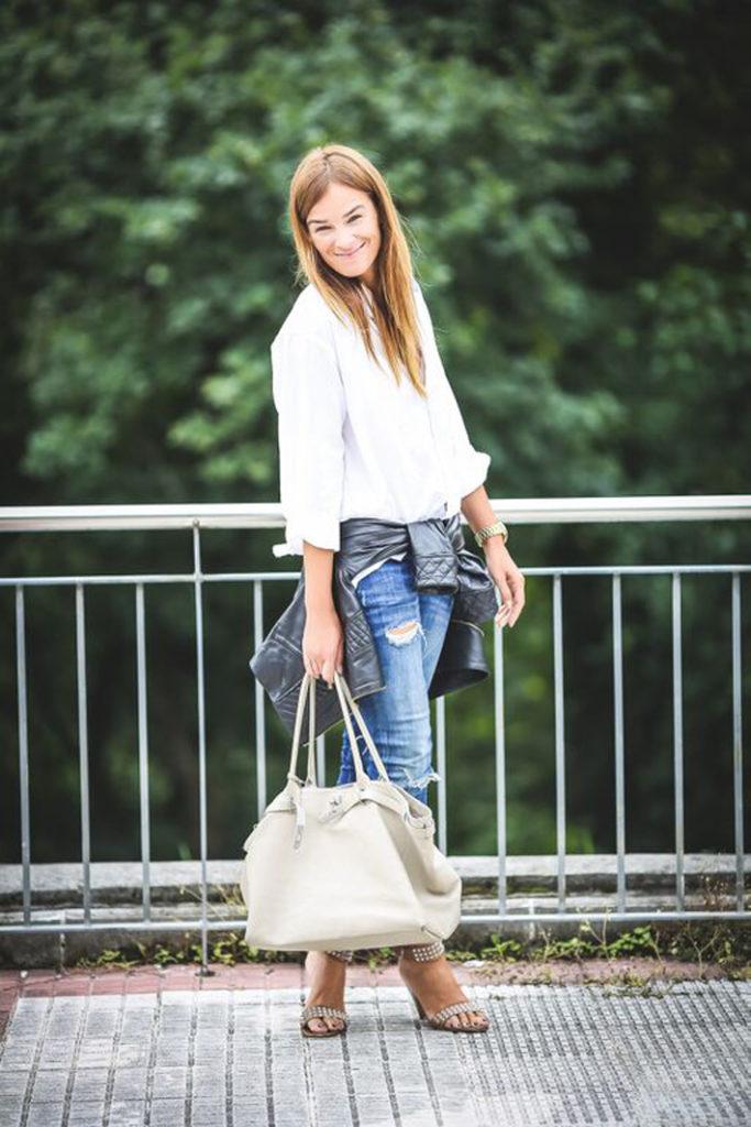 rayed Jeans , es cuestión de estilo , Lucía Díez , Streetstyle, Ivan Perez fotografo