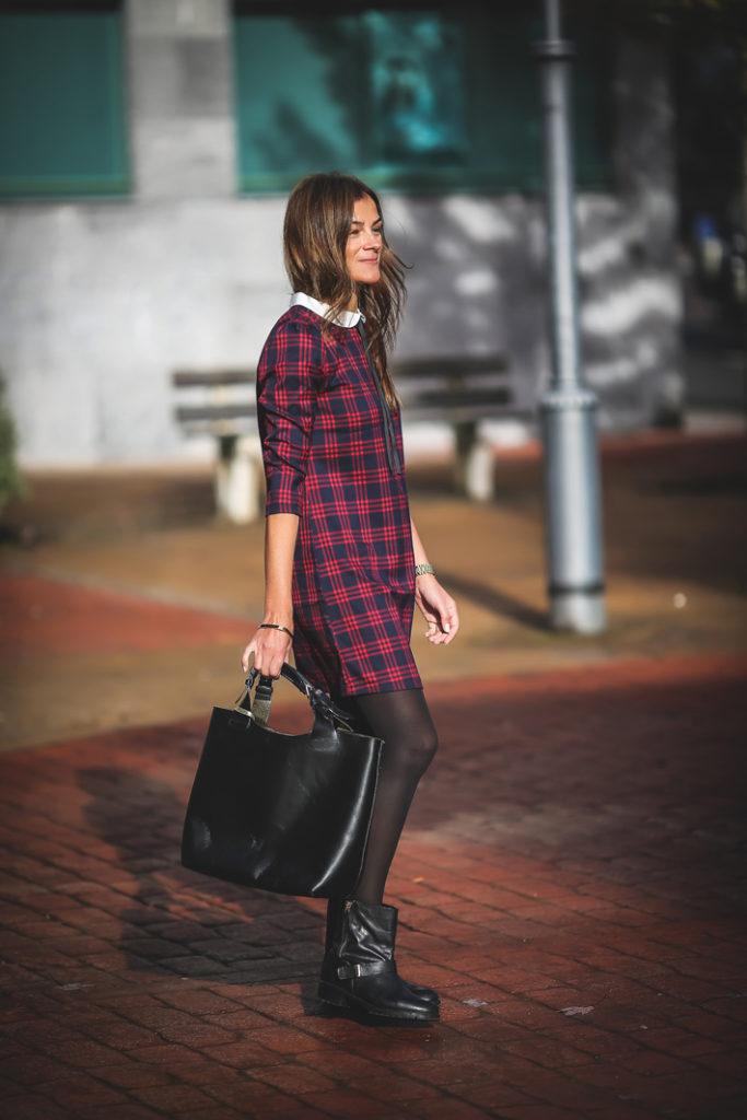 Tartan , vestido , Kinue_boutique , escuestiondestilo , Lucía Díez
