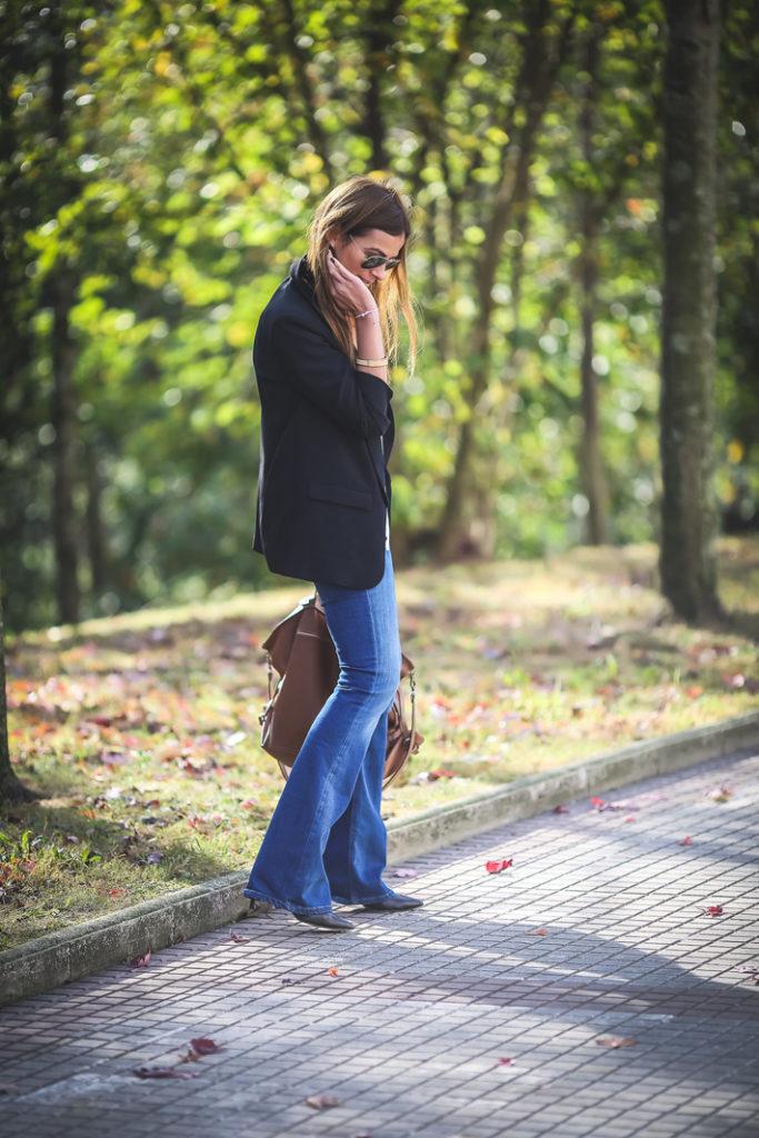 blazer , campana , jeans , Lucía Díez , es cuestion de estilo , massimo dutti ,
