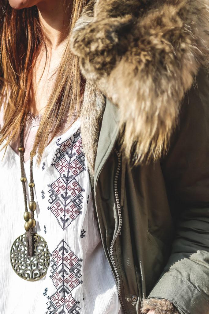 Parka verde militar , botas verano , Lucia Díez, vestido etnico , ´Es cuestion de estilo, Personal Shopper
