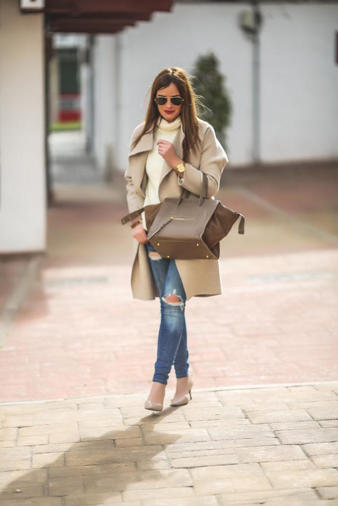 Abrigo , maitane estetika , ray ban , lucía díez ,es cuestión de estilo ,