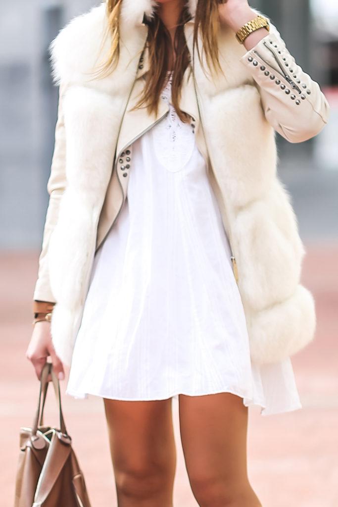 Look , Blanco , Chaleco de pelo , Ash , Lucía Díez , Es cuestión de estilo , Personal Shopper , Vestido