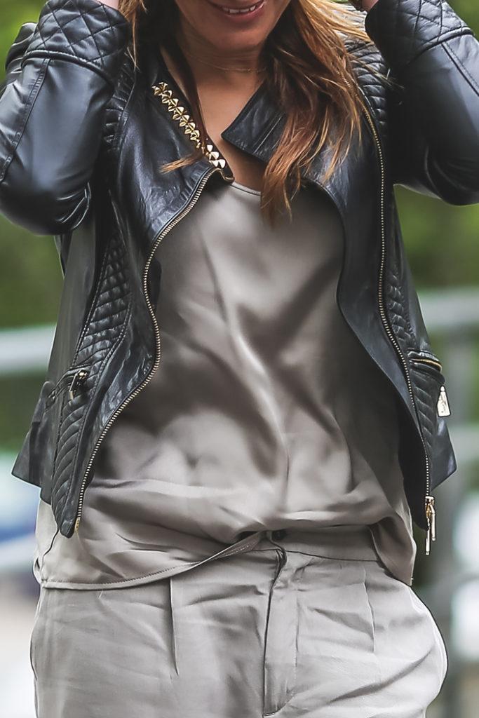 total look gris , es cuestion de estilo , lencero , Lucía Díez