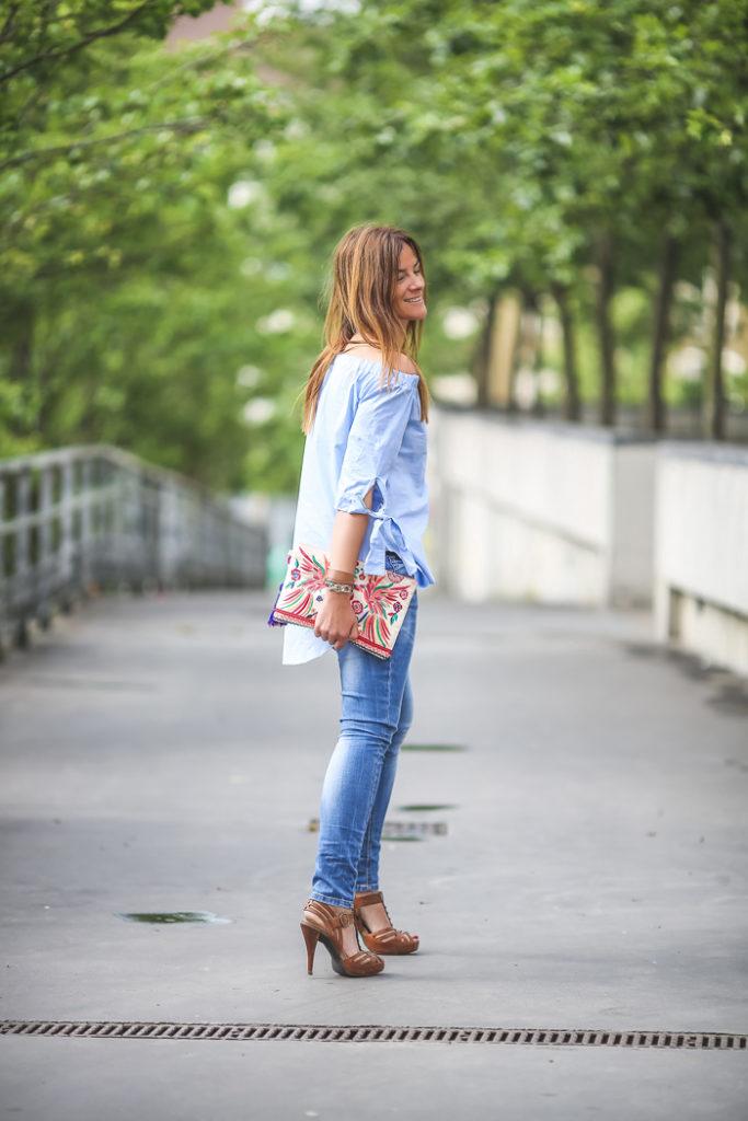 camisa , hombros al aire , tendencia , es cuestion de estilo , Lucía Díez .