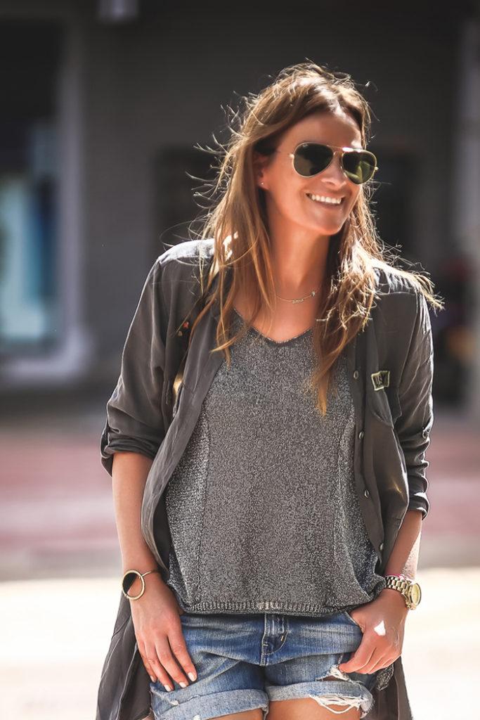 camisa militar , gris , es cuestion de estilo , Lucía Díez , street style, The Amity Company,