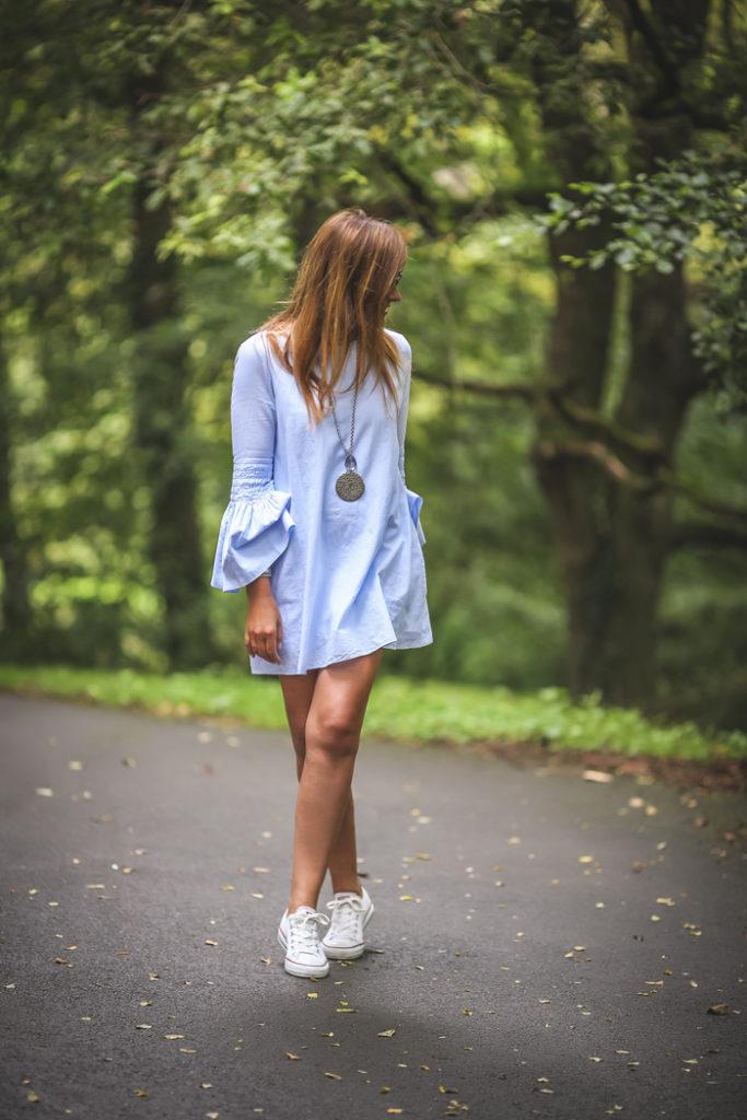 Converse , Vestido , Es cuestion de estilo , Lucía Díez , street style,