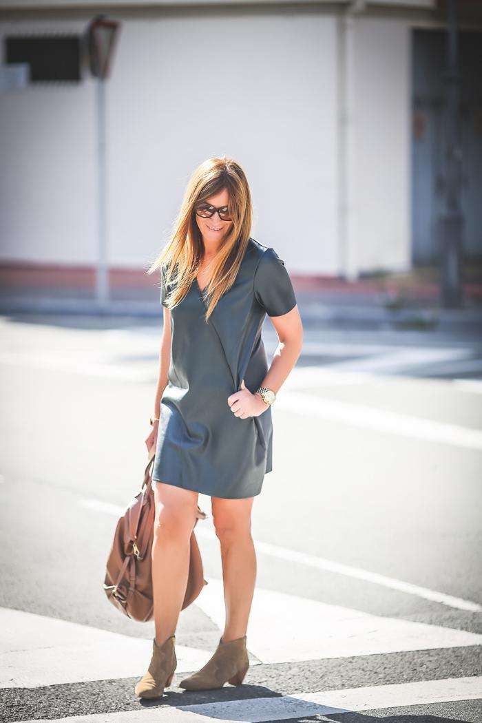 Vestido Encerado Verde