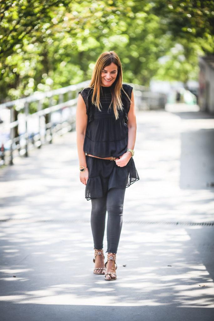vestido encaje negro , mango , es cuestion de estilo , Personal shopper , lucía Díez