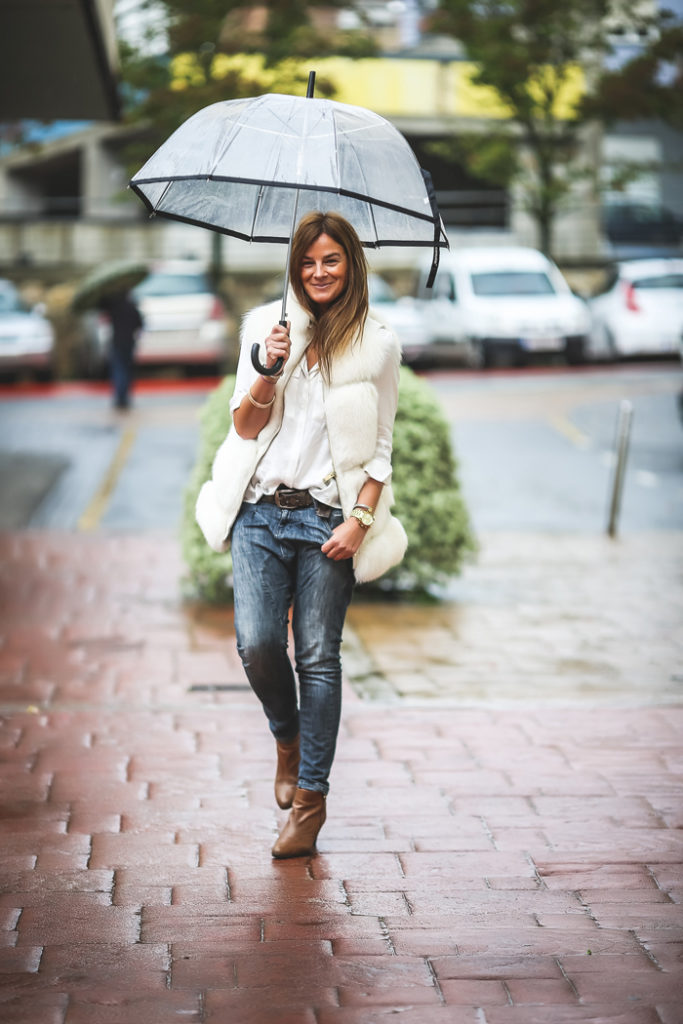 Chaleco blanco pelo , es cuestión de estilo , Lucía Díez , Personal Shopper , estilo , style