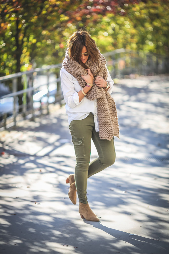 Bufanda Oversize camel , es cuestión de estilo , Personal Shopper , Lucía Díez, street style,