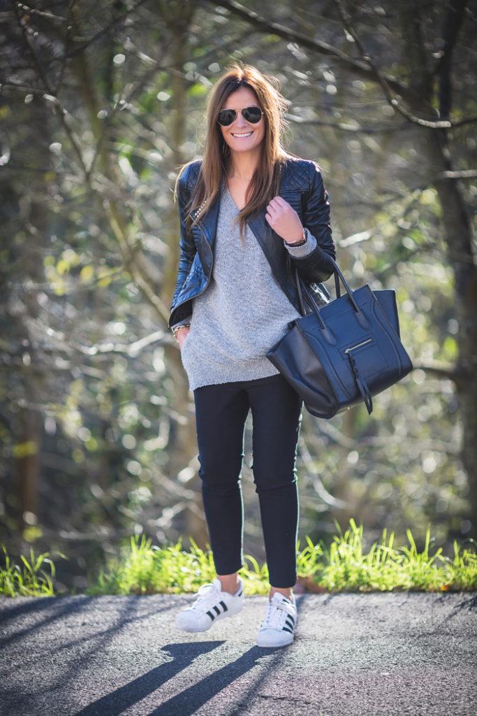Perfecto ,Adidas, Lucia Díez . Street Style, Personal Shopper , Lana , San Sebastián .