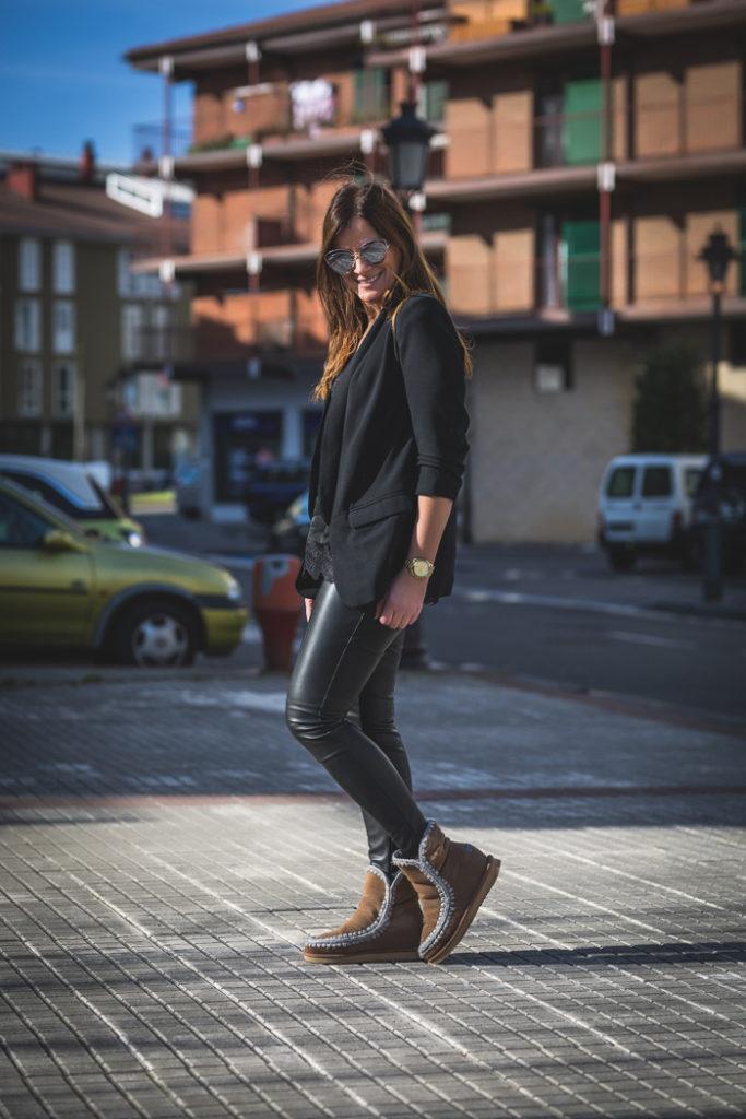 Total  Black look , top Lencero , es cuestión ,MOU , Personal Shopper ,San Sebastián