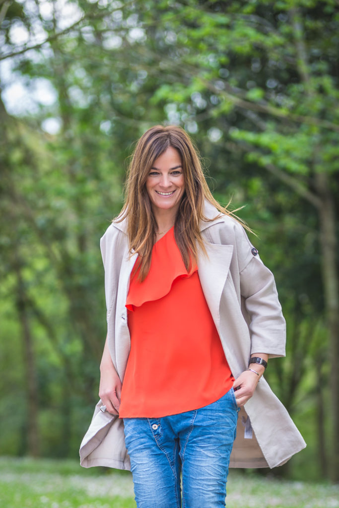 Blusa Coral , Tienda online , es cuestion de estilo , Personal Shopper , Parka , Jeans Baggys