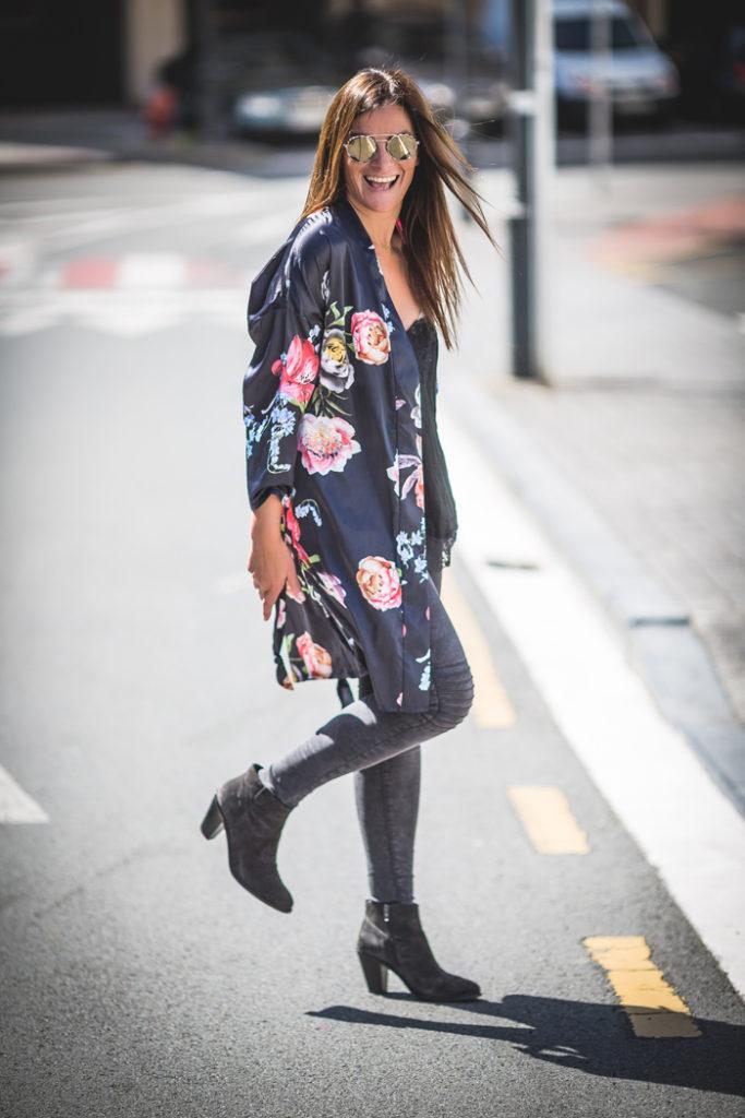 Kimono Flores , Lucía Díez , es cuestión de estilo , flores tendencia
