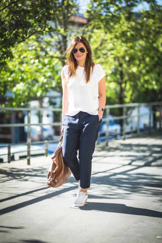 Camiseta blanca , white Shirt  ,es cuestion de estilo , Personal Shopper , Lucía Díez ,