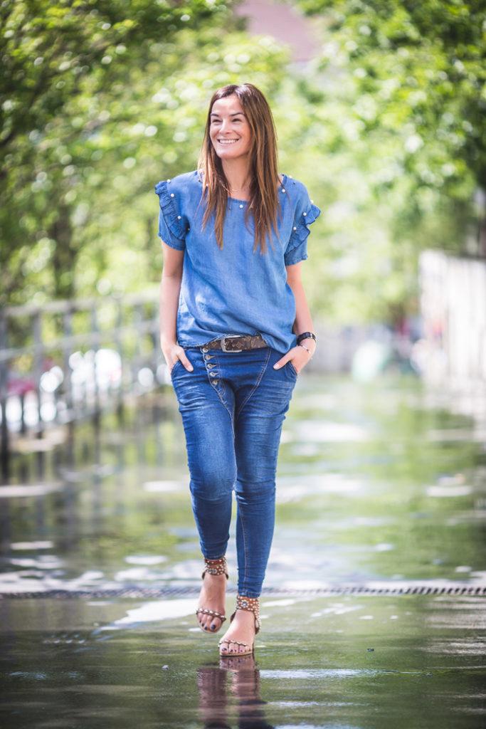 Camisa Vaquera , total Look vaquero , pantalón Baggy , es cuestión de estilo , Personal Shopper ,Lucía Díez .