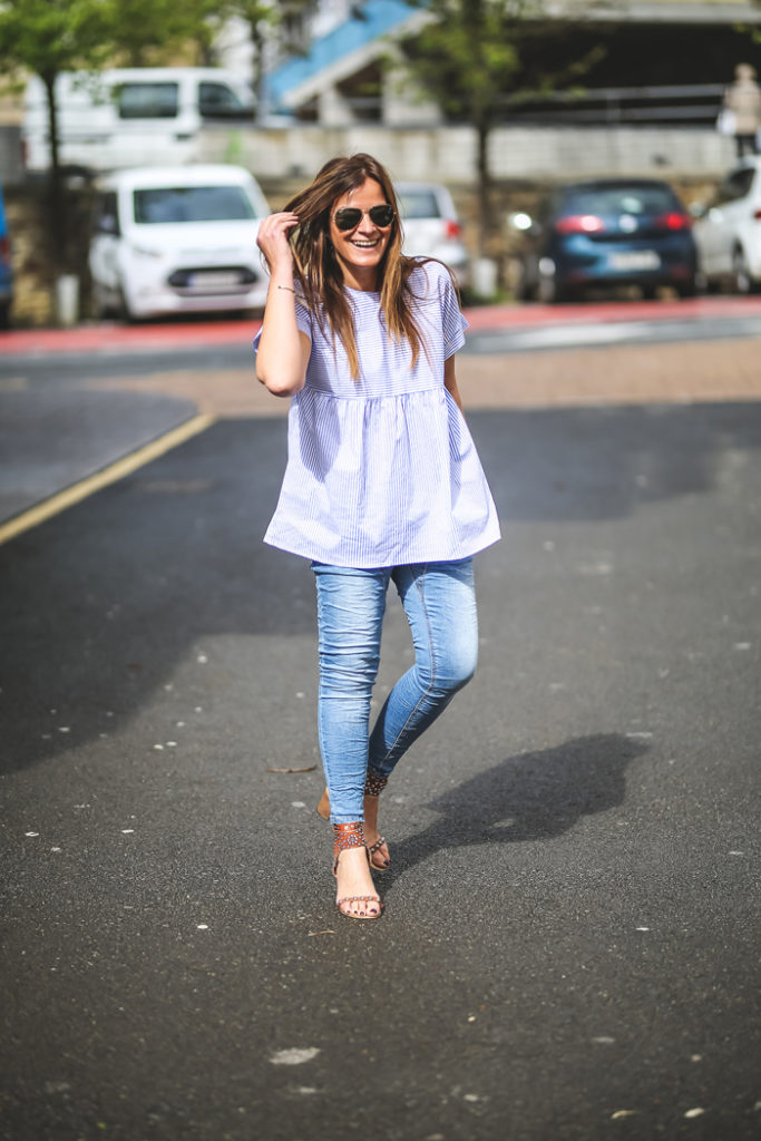 Camisa Rayas , tendencia , Lucia Díez, es cuestión de estilo ,Personal Shopper , street style