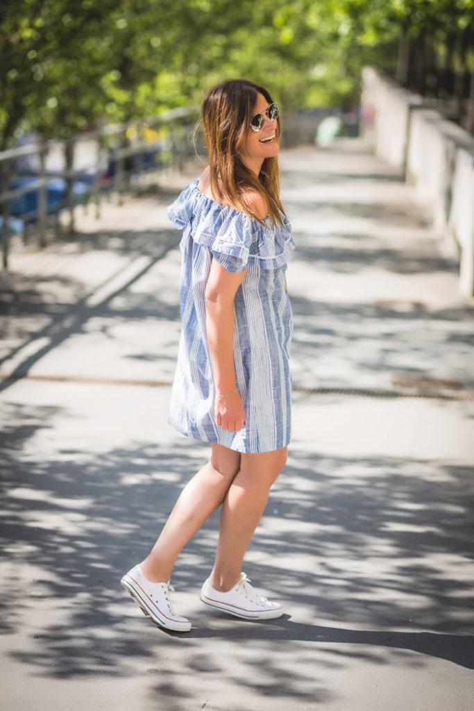Volantes ,rayas , tendencias , vestido ,Prada ,es cuestión de estilo , shop online
