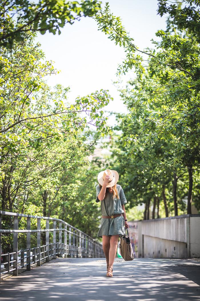 Vestido Verde Lino